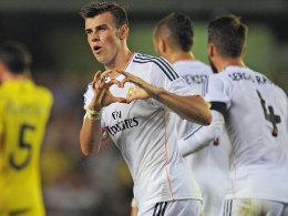 Erstes Tor im ersten Spiel: Gareth Bale glich für Real in Villarreal aus.