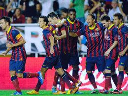 Barcelona jubelte viermal bei Rayo Vallecano: Pedro war eindeutig der Matchwinner mit drei Treffern.