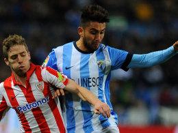 Bilbaos Iker Muniain gegen Malagas Pedro Morales