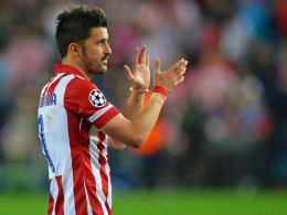 Verabschiedet sich nach einer Saison und wechselt in die MLS: Atleticos Angreifer David Villa.