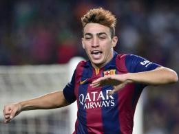 Ein unerwarteter Star an Barcelonas Himmel? Munir El Haddadi traf sehenswert in seinem ersten Spiel.