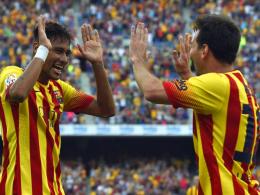Traumduo: Messi legte Joker Neymar (li.) beide Tore mustergültig auf.