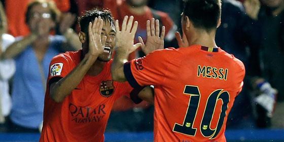 Neymar und Messi