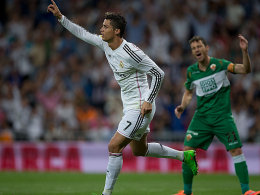 Traf gegen Elche viermal, darunter zweimal vom Punkt: Superstar Cristiano Ronaldo.