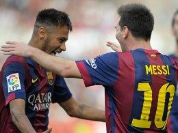 Neymar und Lionel Messi