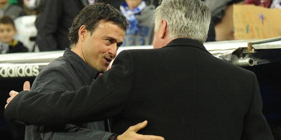 Blo� kein b�ses Blut: Luis Enrique und Carlo Ancelotti sprachen sich den gegenseitigen Respekt aus.