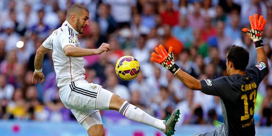 Benzema erh�ht f�r Real auf 3:1.