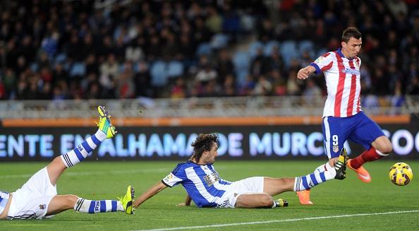 Mario Mandzukic traf gegen Real Sociedad früh zur Führung.