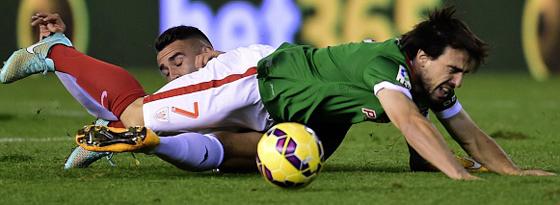 Hart umkämpft ging es beim 0:0 zwischen Valencia und Bilbao zu.