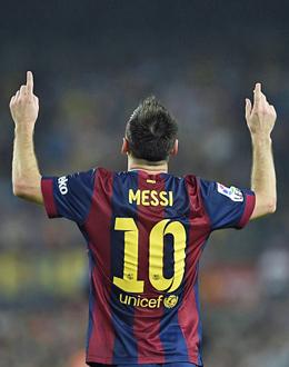 Hattrick f�r die Historie: Lionel Messi.