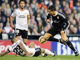 Ging gegen seinen Lieblingsgegner Valencia erneut nicht leer aus: CR7 brachte Real Madrid in Front.