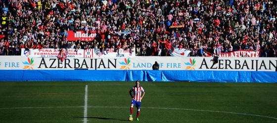 Fast ausverkauftes Haus: Torres zeigte sich am Sonntag im Vicente Calderon den Fans.