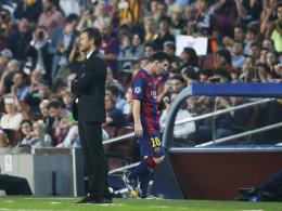 Eiszeit: Luis Enrique (li.) und Lionel Messi haben kein gutes Verhältnis zueinander.