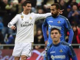 Cristiano Ronaldo bejubelt einen seiner beiden Treffer.