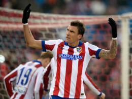 Grimmiger Torschütze: Mario Mandzukic erzielte vom Punkt cool das 1:0 für Atletico.