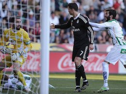 Cristiano Ronaldo sah in Cordoba Rot
