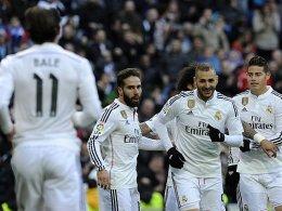 Klare Sache nach Stotterstart: Gareth Bale, Daniel Carvajal, Karim Benzema und James (v.li.).