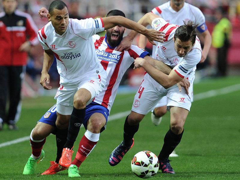 Es ging intensiv zur Sache bei Sevilla gegen Atletico - Tore gab es jedoch keine.