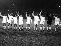 Real Madrid im Jahr 1966: Antonio Betancort (2.v.r.) stand damals zwischen den Pfosten.