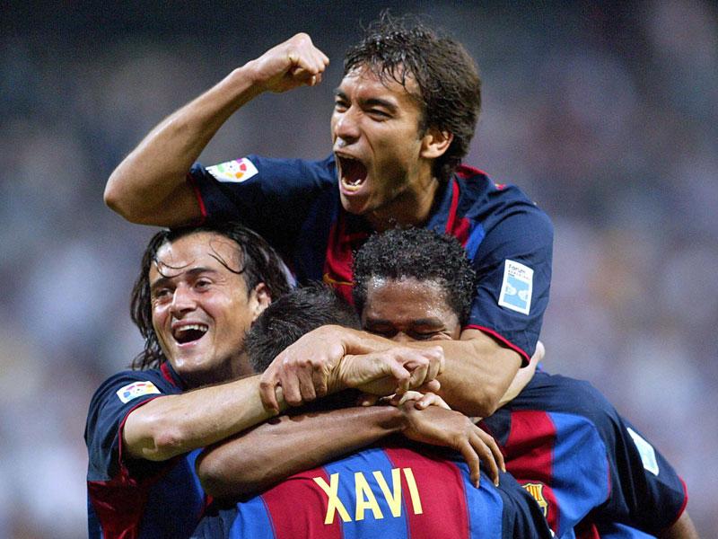 Kennt das Gefühl Real als Tabellenführer zu schlagen: Der Ex-Barça-Profi und heutige Trainer Luis Enrique (li.).