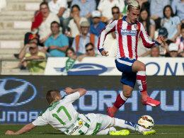 Blitzstart: Antoine Griezmann brachte Atletico Madrid beim FC Cordoba bereits nach fünf Minuten in Front.