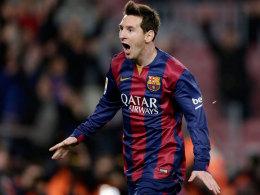 Meilenstein: Lionel Messi erzielte gegen Valencia sein 400. Pflichtspieltor.