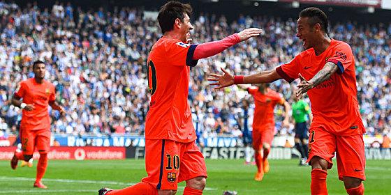 Treffsicheres Duo: Messi und Neymar schossen den Erfolg im Derby heraus.