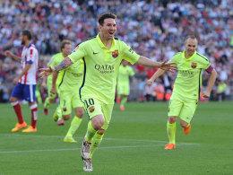 Schoss den FC Barcelona im Vicente Calderon zum Titel: Lionel Messi.