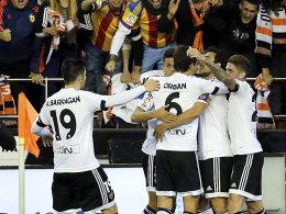Die Stirn geboten: Valencia freut sich über einen Punkt gegen Real.