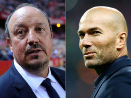 Rafael Benitez und Zinedine Zidane
