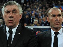 Carlo Ancelotti und Zinedine Zidane
