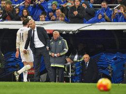 Bedankte sich nach seinem Hattrick bei Gareth Bale: Reals neuer Coach Zinedine Zidane.
