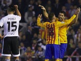 Bar�a und Valencia um den Finaleinzug