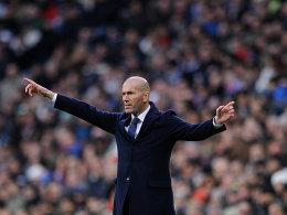 Kriegt er im Sommer vielleich doch neue Spieler? Reals Trainer Zinedine Zidane.