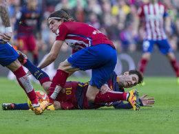 Foulspiel am Weltfußballer: Die Sperre für Atleticos Filipe Luis wurde reduziert.