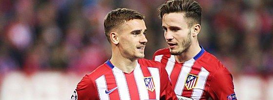 Heute schon wieder gefordert: Atletico mit Antoine Griezmann (li.) und Saul Niguez.