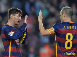 Traten die Reise in die Türkei erst gar nicht an: Lionel Messi und Andres Iniesta.