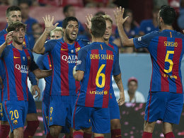 2:0 in Sevilla: Bar�a dank Suarez und Munir auf Titelkurs