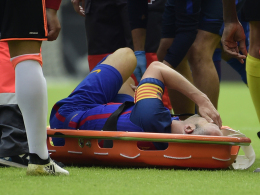Früh ausgewechselt: Barcelonas Andres Iniesta.