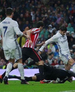 Alvaro Morata trifft zum 2:1 gegen Bilbao