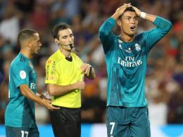 Schiedsrichter geschubst: Ronaldo verliert die Fassung