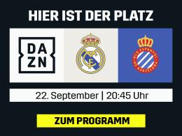 Real vs. Espanyol - das La-Liga-Topspiel live bei DAZN