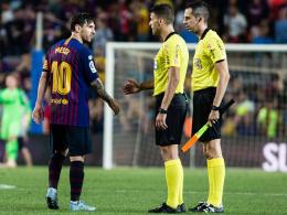Barça stinksauer: Messi verweigert Referee den Handschlag