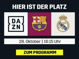 Barça gegen Real - der Clasico live bei DAZN