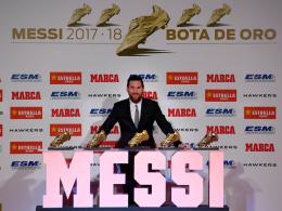 Weiter, immer weiter: Messis famose Schuh-Sammlung