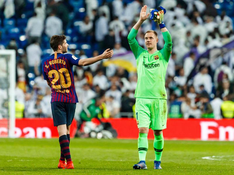 Clasico Fc Barcelona Innenverteidiger Gerard Piqué Hat Nichts