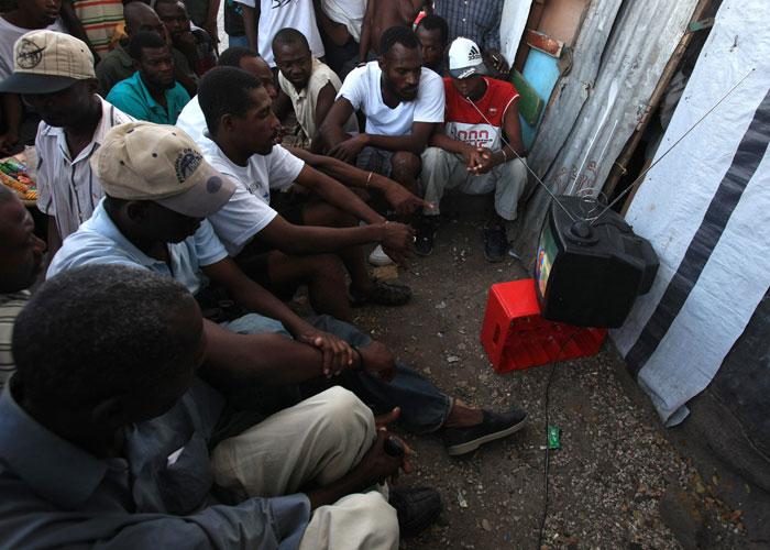 Fans in Haiti