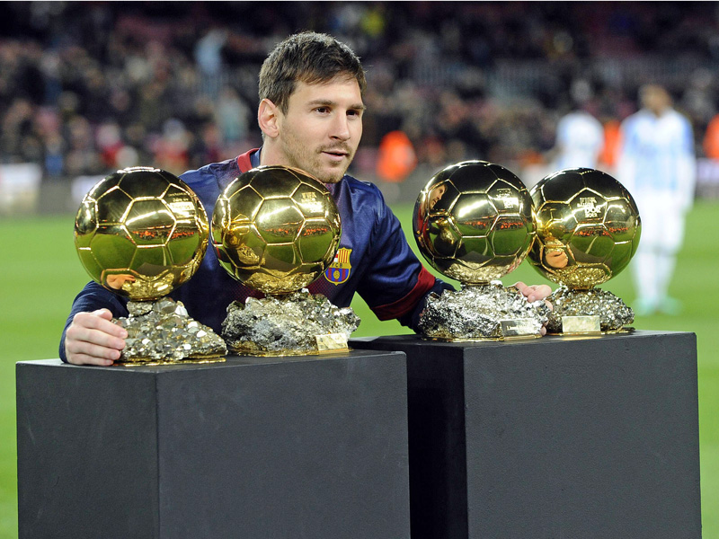 Vierfacher Weltfußballer Lionel Messi.
