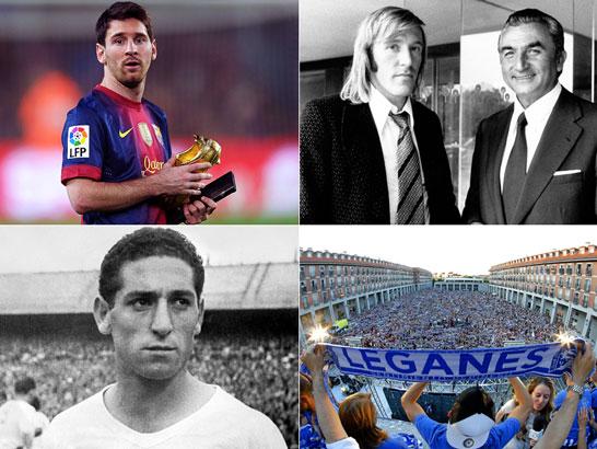 lionel Messi, Miguel Munonz, Francisco Gento und SD Eibar