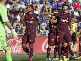 Paulinho sichert Barça die weiße Weste